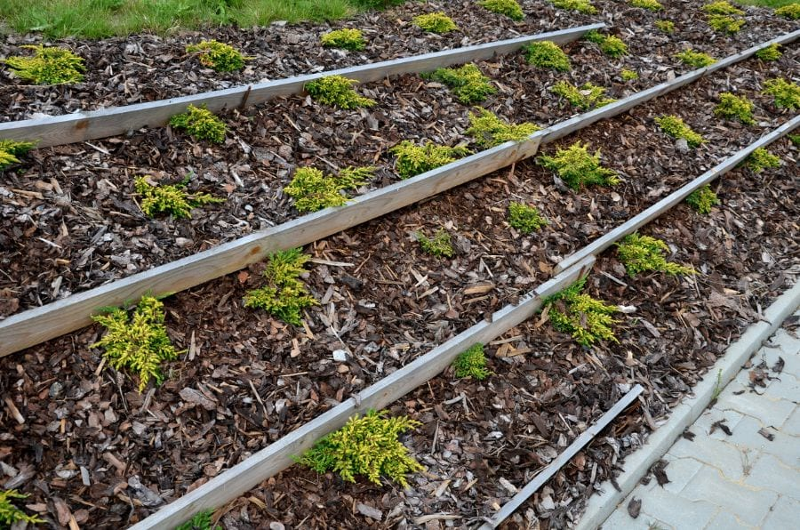 how to keep mulch from washing away on a slope